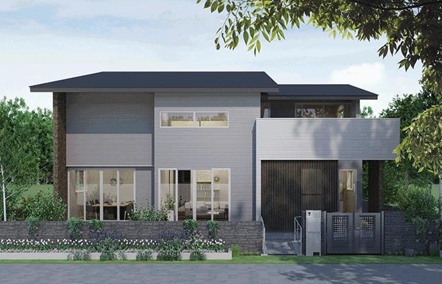家事や育児を協力しあえる共有型の二世帯住宅 MIRAI のイメージ