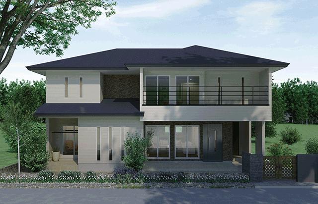 お互いのプライバシーを重視した分離型の二世帯住宅 MIRAI のイメージ