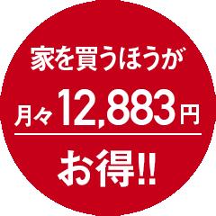 月々12883円お得!
