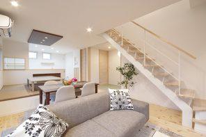 長野「インナーガレージのある無垢フロアのナチュラルな家」 ハーバーハウス長野支店