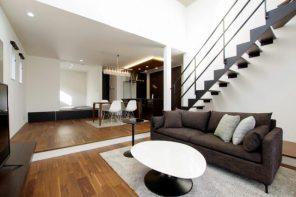 ピットリビング+吹き抜けで開放感のある家 ハーバーハウス長野支店