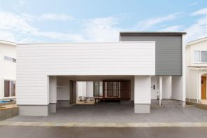 21.3帖の大空間LDK&中庭のある インナーガレージハウス ハーバーハウス長野支店